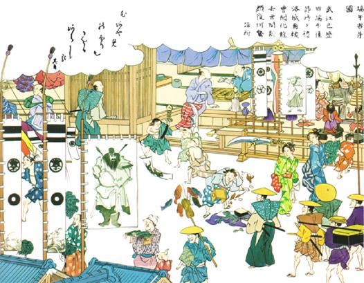 江戸時代に、外から家の中へ